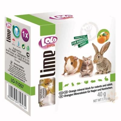 LoLo 小動物礦物質磨牙石(柑橘)40g 2入