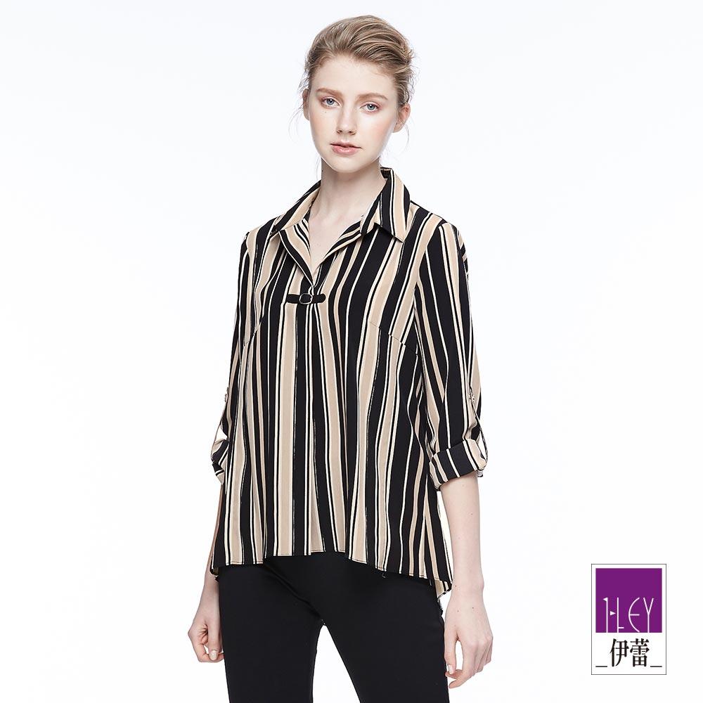 ILEY伊蕾 時尚都會條紋上衣魅力價商品(黑)