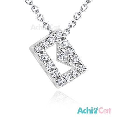 AchiCat 925純銀項鍊 幸福訊息 鎖骨鍊