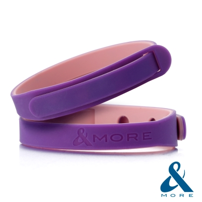 &MORE愛迪莫鈦鍺-ICOLOR愛玩色負離子運動手環(紫色)