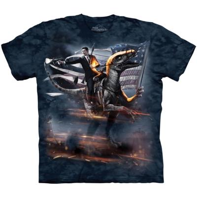 摩達客 美國進口The Mountain 雷根迅猛龍 純棉環保短袖T恤