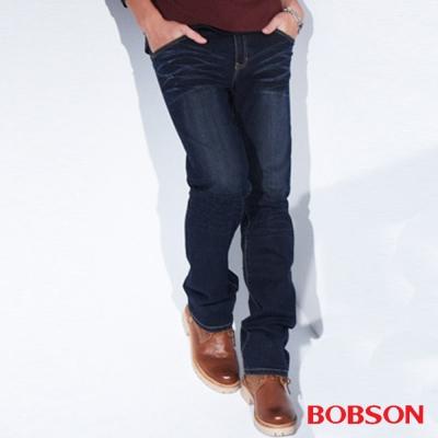 BOBSON 男款保暖低腰直筒褲
