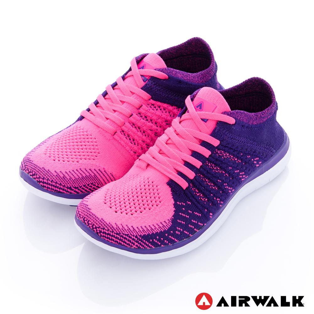 美國 AIRWALK透氣輕量編織慢跑鞋運動鞋 女款-紫色