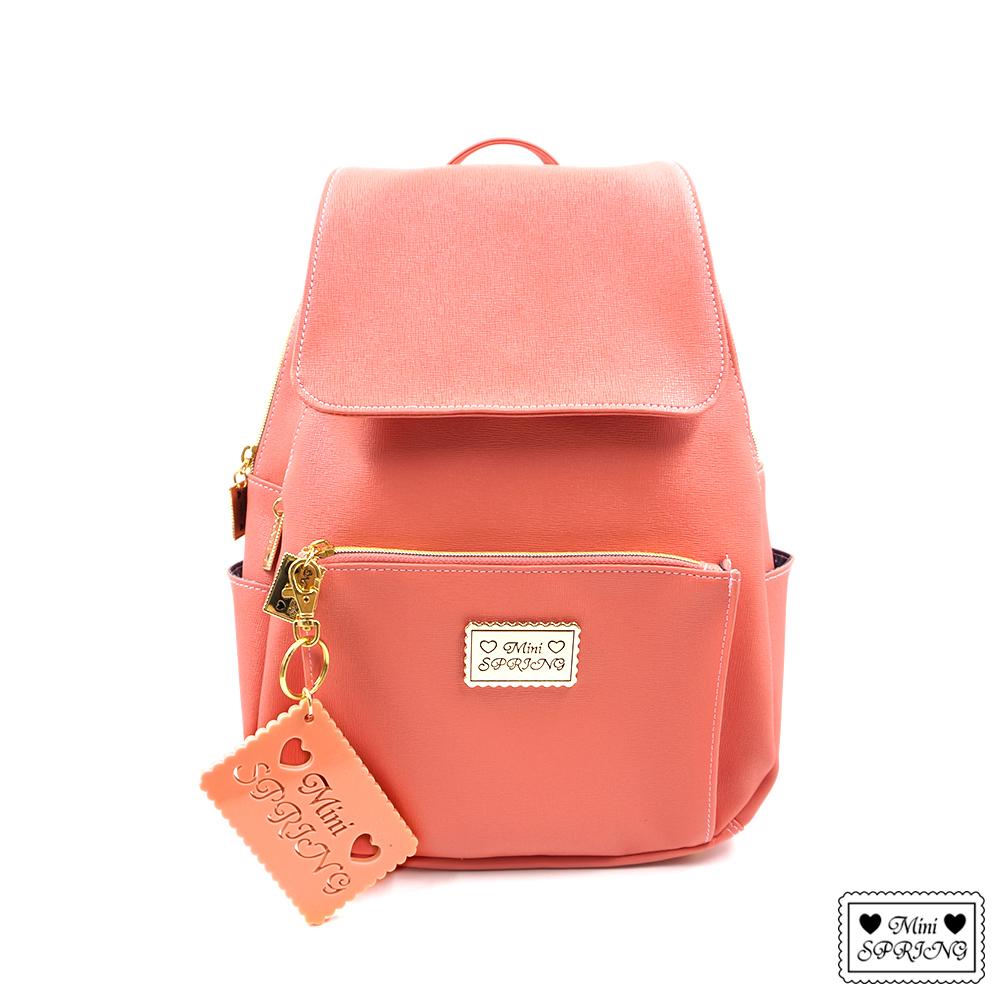 MINI SPRING-經典法式餅乾JoY後背包-DuCD'o 山茱萸粉