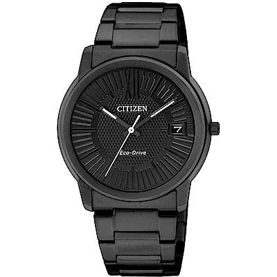 CITIZEN星辰 時尚都會大三針腕錶-IP黑/32mm FE6015-56E