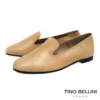 Tino Bellini 義大利進口簡約輪廓牛皮樂福鞋_ 膚