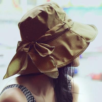 Seoul-Show-點點可摺疊防曬遮陽帽2色-橄欖