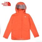 The North Face北面女款橘色防水透氣防風外套