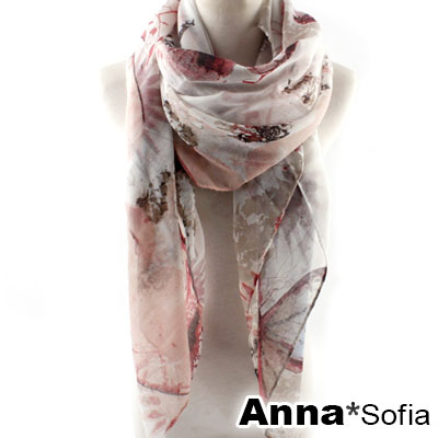 AnnaSofia-漫紛葉蝶-巴黎紗披肩圍巾-粉系