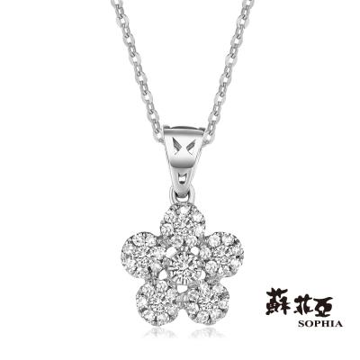 蘇菲亞SOPHIA 鑽鍊 - Yumi系列五 花朵造型鑽石項鍊(共兩色)