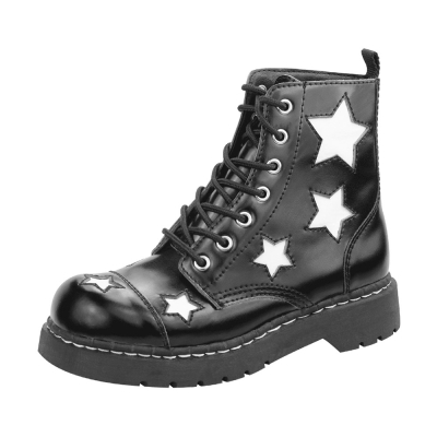 TUK 經典7孔星星中筒軍靴-黑