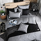 OLIVIA  CHOCOLATE  加大雙人床包美式枕套三件組