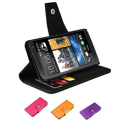 NEW HTC ONE M7 書本式側掀皮套 保護套 含卡片槽 可斜立