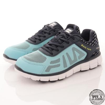 FILA 女款舒適運動慢跑鞋大LOGO款(藍5-J906R-334)