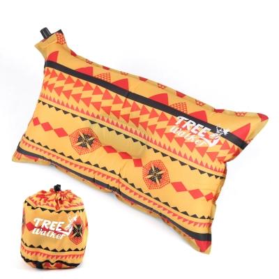 TreeWalker 舒適自動充氣枕頭 -黃色圖騰