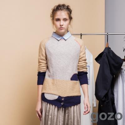 gozo復古裁縫藝術家拼接上衣-二色