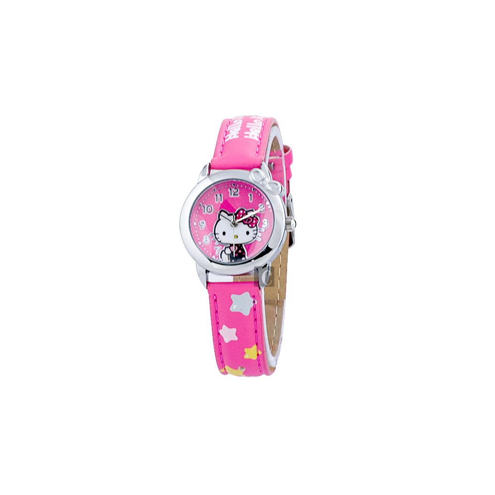 HELLO KITTY 星星時光腕錶-粉紅色/28mm