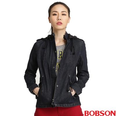 BOBSON 女款熱感IN牛仔外套