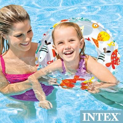 INTEX 海底世界游泳圈直徑51cm(圖案隨機) 適用:3~6歲 (59230)