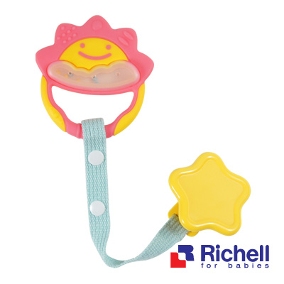 Richell日本利其爾 固齒器 粉紅色一般型(附安全固定夾)