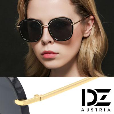 DZ 風華層線框 抗UV 偏光太陽眼鏡墨鏡(黑框灰片)