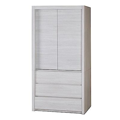 品家居 華森3.2尺二門三抽衣櫃(二色可選)-97.4x57x198.5cm免組