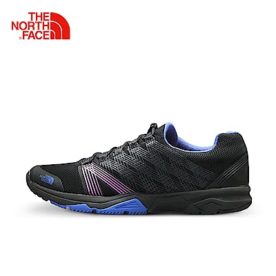 The North Face北面女款黑色透氣耐磨跑鞋