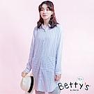betty's貝蒂思 直條紋口袋襯衫洋裝(天空藍)