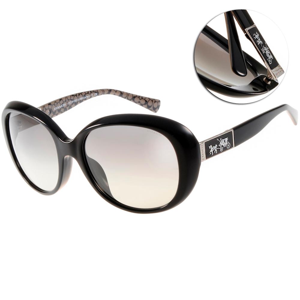 COACH太陽眼鏡 經典LOGO款/黑#COS8120F 526111 @ Y!購物