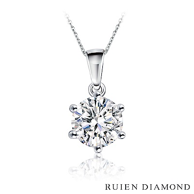 RUIEN DIAMOND GIA30分 D VVS2 3EX 18K白金鑽石項鍊