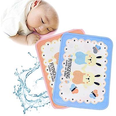 kiret 可愛兔子 嬰兒 棉柔透氣防水隔尿墊 2入/組