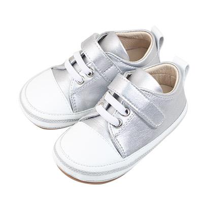 Swan天鵝童鞋-雙色拼接休閒學步鞋1548-銀