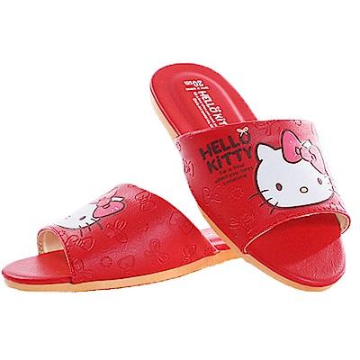 Hello kitty居家拖鞋 紅 sk0280 魔法Baby