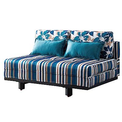 品家居 聖比斯絲絨布拉合式沙發床-145x102x69cm-免組