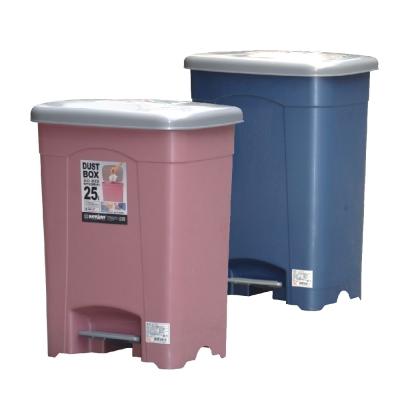 『彩漾』腳踏式大容量垃圾桶二入組(25L)