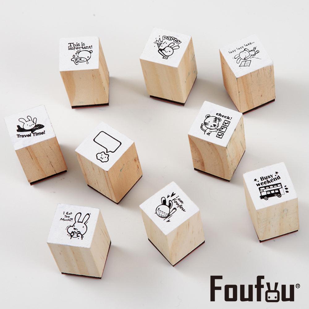 《Foufou》手帳配件印章組(一組九入)