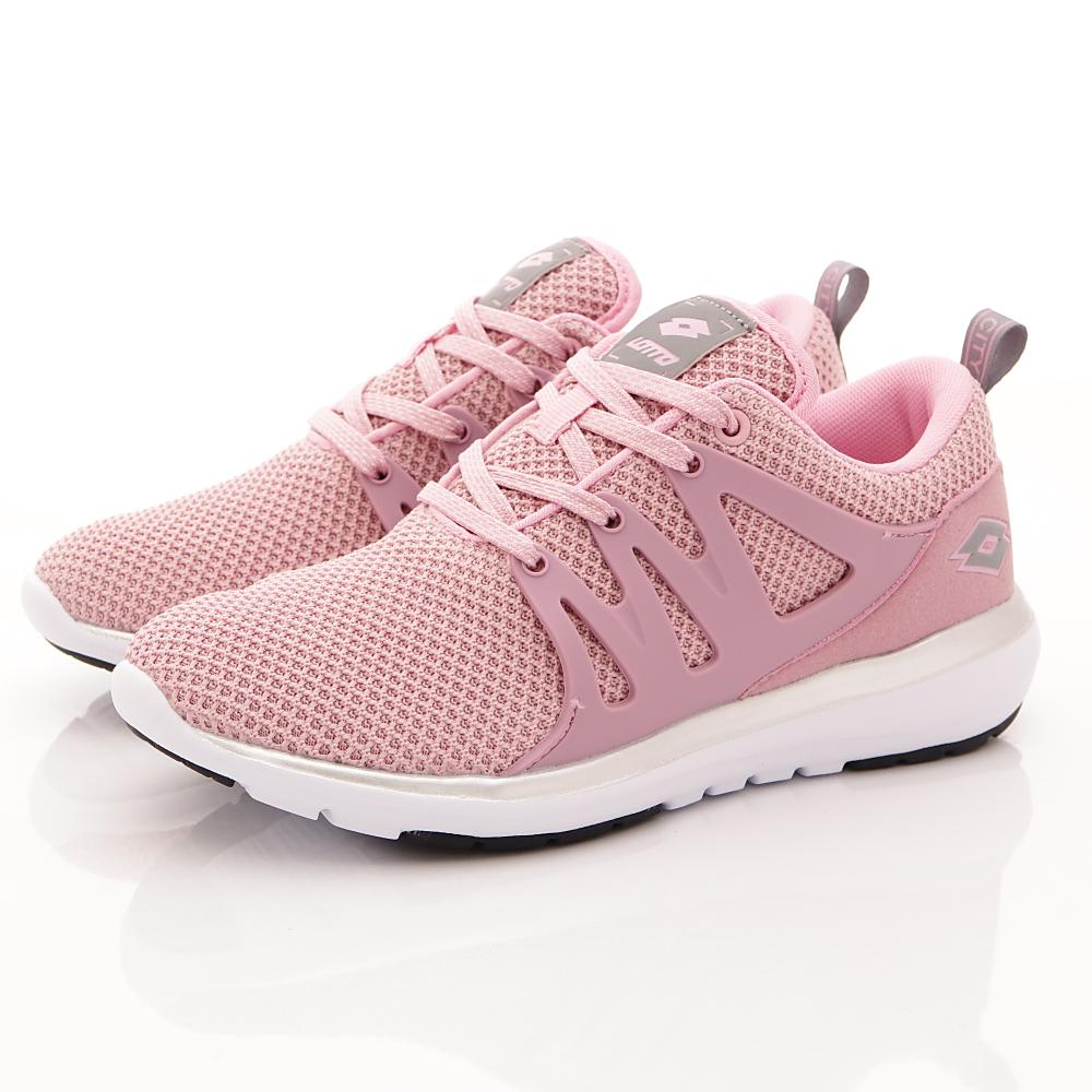 Lotto樂得-彈力幻彩慢跑鞋-FI933粉紅(女段)