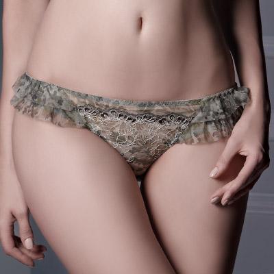 【La Felino】綠茵迷彩三角褲 (粉彩綠)