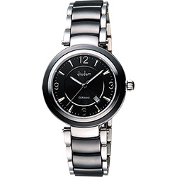 Diadem 黛亞登 都會女伶陶瓷腕錶-黑/35mm