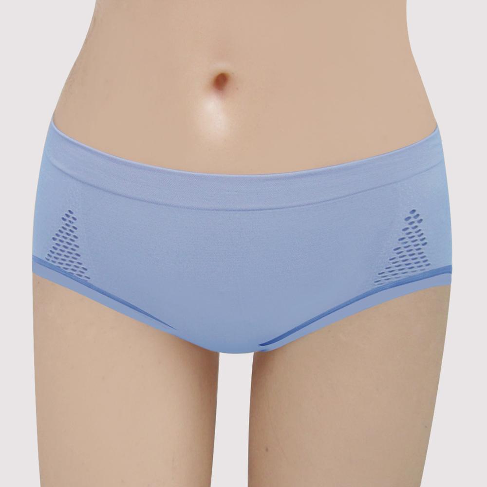 曼黛瑪璉 紓壓好動IceBar包覆   低腰寬邊三角內褲(海灘藍)