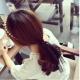梨花HaNA  韓國公主珍珠氣質蕾絲飄帶髮箍