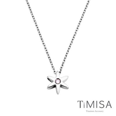 TiMISA《迷你花漾年華-晶鑽版》純鈦項鍊C (共三色)