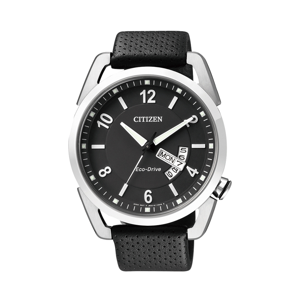 CITIZEN Eco-Drive 逆光奇蹟光動能腕錶(AW0010-01E)-黑/42mm