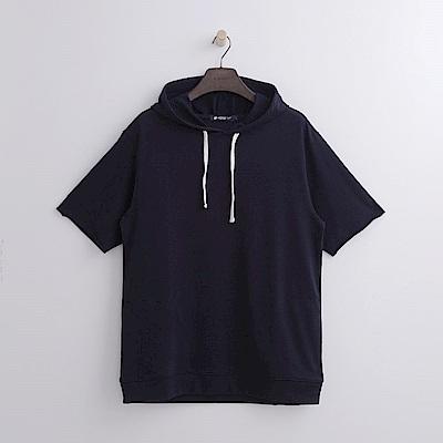 Hang-Ten-男裝-純色連帽運動衫-藍色