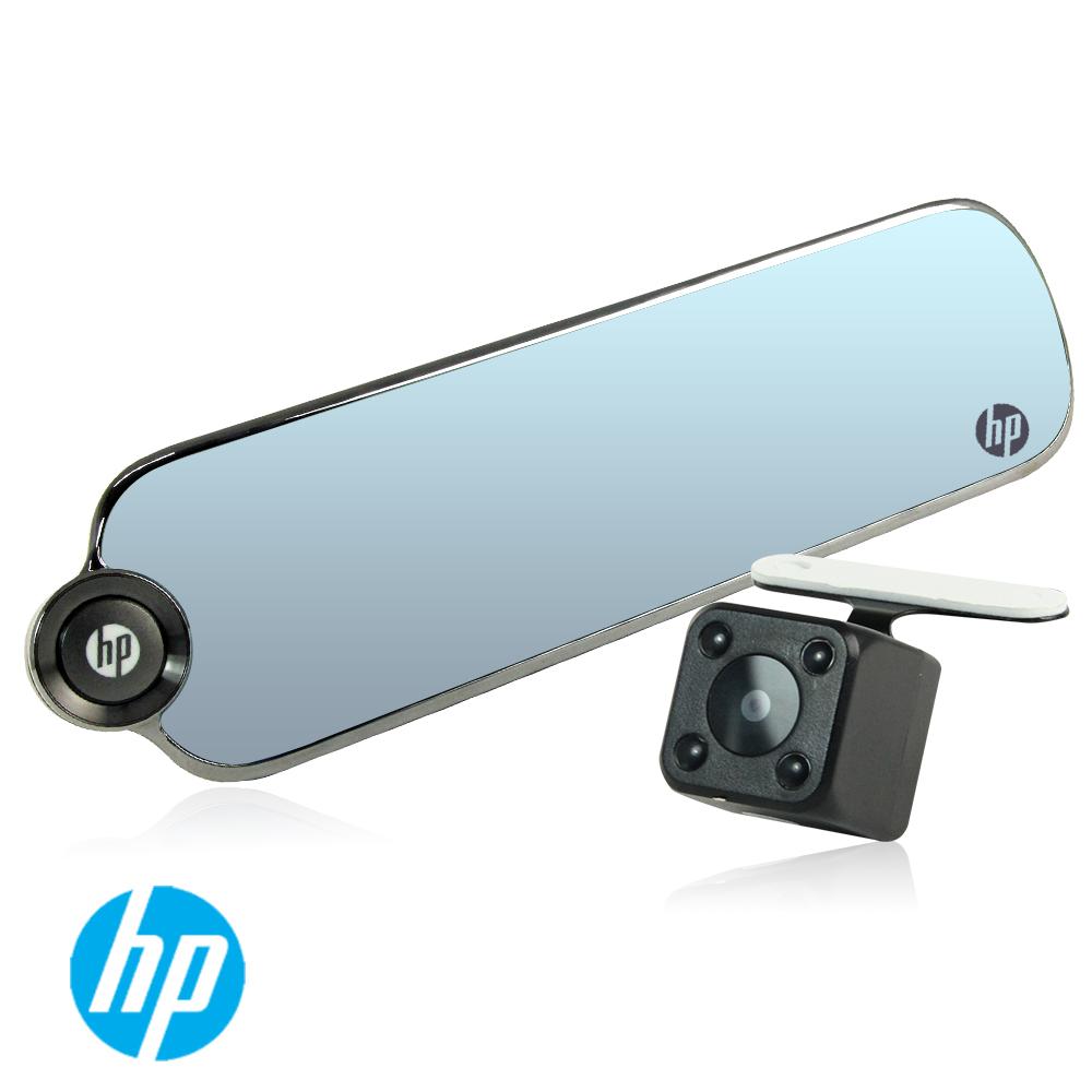 HP F770 1080p後視鏡 雙鏡頭行車紀錄器