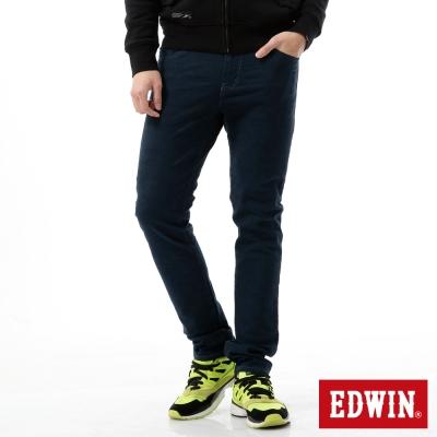 EDWIN 窄直筒 EDGE迷彩提織後染色褲-男-丈青