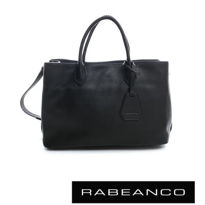 RABEANCO 迷時尚系列牛皮三層多WAY包  黑色
