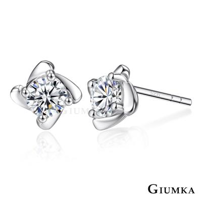 GIUMKA 925純銀耳環女針式 絢麗奪目-銀色