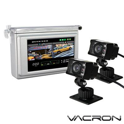 真相 分離式2路機車用行車記錄器 (銀色款主機+SONY CCD紅外線夜視雙鏡頭)