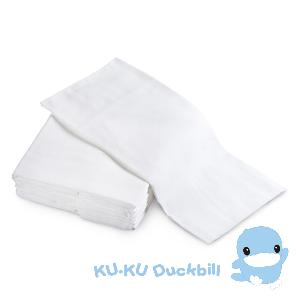 KU.KU酷咕鴨-環保紗布尿布M-10入